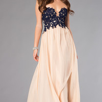 Dave and Johnny Floor Length Formal Gown