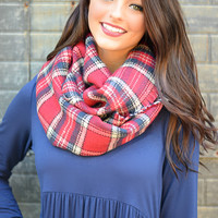 Without a Doubt Plaid Infinity Scarf