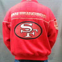 Vintage, Jacket, Football, San Francisco 49ers, NFL, Nike, Size Adult XL