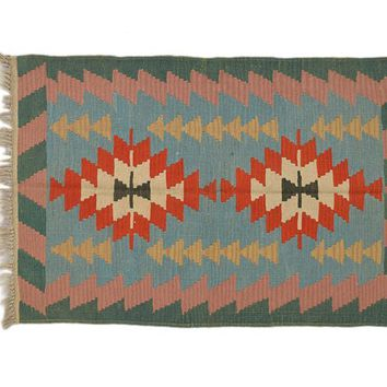 "Turkish Kilim Turkish 2' 11"" X 4' 3"" Handmade Rug"