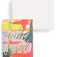 Thimblepress 'Hello Friend' Card - Pink
