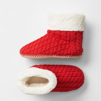 Gap Girls Cozy Cable Slipper Boots