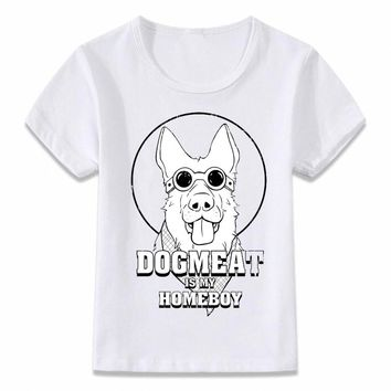 Kids Clothes T Shirt Dogmeat Is My Homeboy Fallout T-shirt Boys and Girls Toddler Tee