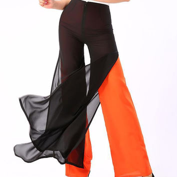 New Loose Long Chiffon Trousers Women's Pant PLUS SIZE 4XL Casual Wide Leg Pants