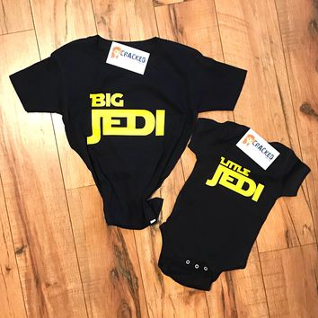 Big Jedi Little Jedi Star Wars Inspired Siblings Shirt