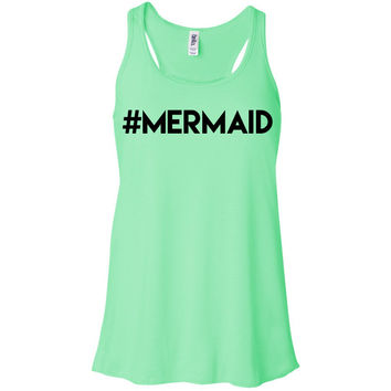 Hashtag Mermaid Racerback Tank Top