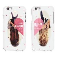 Blonde & Brunette BFF Phone Cases - iphone 4 5 5C 6 6+, Galaxy S3 S4 S5, M8, G3