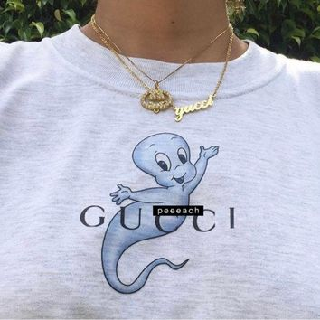 GUCCI Ghost horse print overszie t-shirt