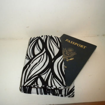 Passport Cover  Black and White by redmorningstudios on Etsy
