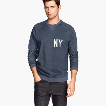 H&M Sweatshirt with Printed Design $15