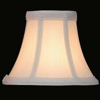 Lite Source CH508-6 Candelabra Shade, White