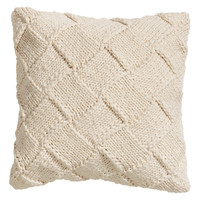 H&M - Knit Cushion Cover - White melange