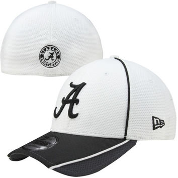 New Era Alabama Crimson Tide NCAA Pipe Slide Flex Hat - White/Gray