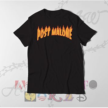 Post Malone Thrasher Style Graphic tee T Shirt