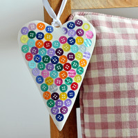 Button Heart — Dear Blackbird Homewares