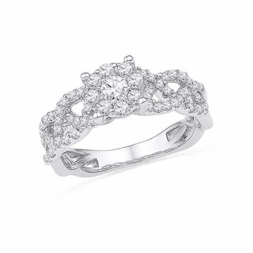 10kt White Gold Women's Round Diamond Solitaire Twist Bridal Wedding Engagement Ring 5-8 Cttw - FREE Shipping (US/CAN)