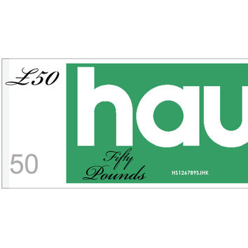 HAUS GIFT VOUCHER - VALUE £50 //
