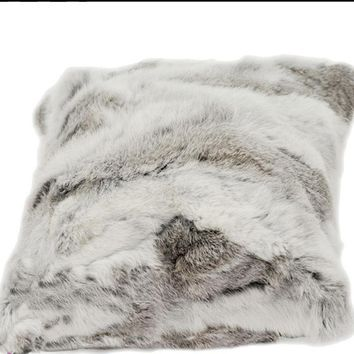 Free Shipping RealRabbit Fur Cushion Cover Fur Pillow Cover Almofadas Pillow Covers Decorative Pillows Capa De Almofada Coussin