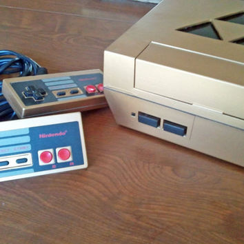 Custom Gold NES System with Legend of Zelda Triforce Cutout - Geekery - Gamers