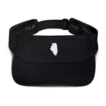 Illinois Embroidered State Shape Visor