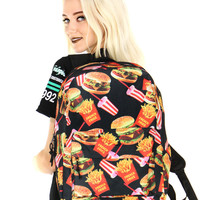 Fast Food Fiend Backpack Bag