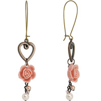 Handcrafted English Rose Dangle Earrings MADE WITH SWAROVSKI ELEMENTS | Body Candy Body Jewelry