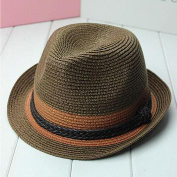 Women's Panama Straw Sun Hat with Hemp Rope