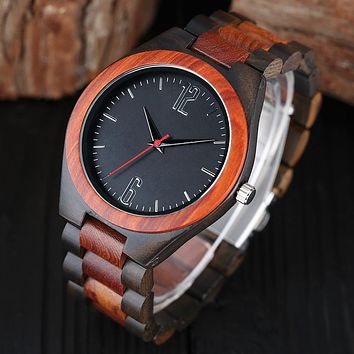 Nature Bamboo Quartz Wristwatch