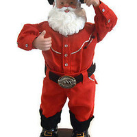 Rock Santa Have a Holly Jolly Christmas Tree Musical Dances and Sing AC adapter with Box Christmas Decoration Dancing Santa Claus