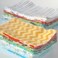 Cloth Baby Wipes for Boys, Reusable wipes, reusable napkins, Facecloths, washcloths, Two Dozen Wipes
