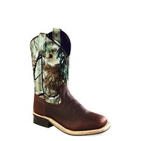 Old West Children's Camo Corona Square Toe Boots - BSC1816