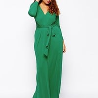 ASOS CURVE Maxi Dress With Tie Front