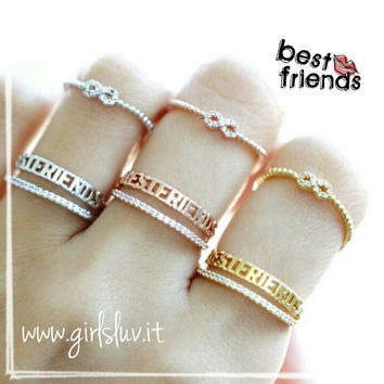 girlsluv.it - best friend infinity ring set