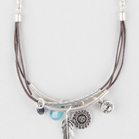Full Tilt Layered Tube Charm Necklace Silver One Size For Women 27448514001