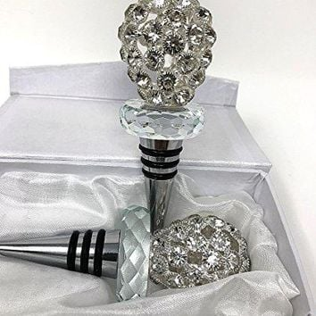 Rhinestone wine bottle stopper perfect gift for any Wine Lover great as a Wedding gift Birthday Gift Anniversary Gorgeous Wedding favors Stopper comes in a satin lined gift box Lovely