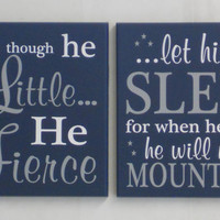 Navy Wall Signs, Large Art Sign, Nursery Room Decor, New Parent with Baby Boy Shower Gifts