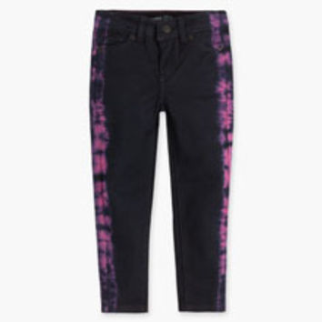 Girls' Levi's Toddler Tie Dye Blue Leggings - Black & Pink - Kids