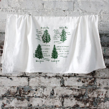 Conifers Tea Towel