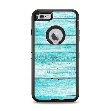 The Trendy Blue Abstract Wood Planks Apple iPhone 6 Plus Otterbox Defender Case Skin Set