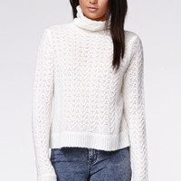 Kendall & Kylie Turtleneck Pullover Sweater - Womens Sweater - White