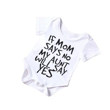 Baby's 'My Aunt Will Say Yes' Romper Onesuit