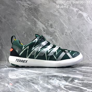 DCCK2 A1195 Adidas Terrex Summer breathable retro round-headed wading shoes Green