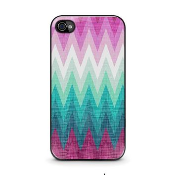 OMBRE PASTEL CHEVRON Pattern iPhone 4 / 4S Case Cover