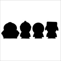 South Park Silhouette  Vinyl Car Laptop Window Wall Decal
