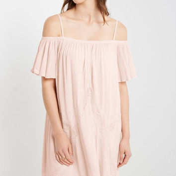 Camino Cold Shoulder Swing Dress