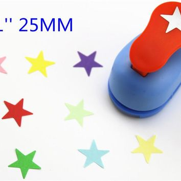 freeship25mm star punches for eva paper punch craft perfurador cutter scrapbooking paper punch for kids furador diy puncher R339