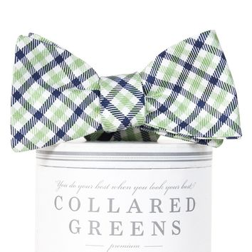 Gameday Bow Tie in Green and Blue by Collared Greens