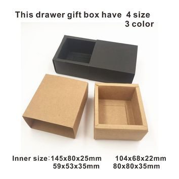 50pcs/lot Kraft Brown Wedding Party Gift Boxes Handmade Soap/chocolate/cake/candy/Cosmetics/jewelry Packaging gift Box