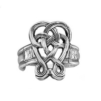 Celtic Knot Silver Spoon Ring