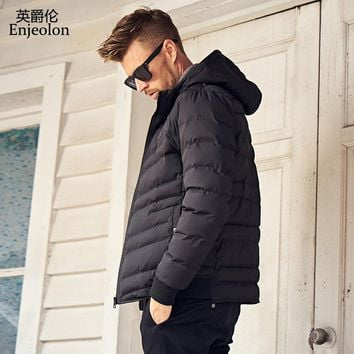 winter hoodies Cotton Padded Jacket coat Men Windproof black Parka man Thick Quilted Coat